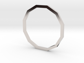 Dodecagon 16.00mm in Rhodium Plated Brass