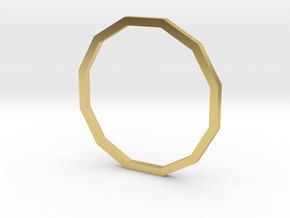Dodecagon 17.35mm in Polished Brass