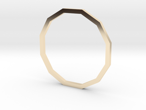 Dodecagon 17.35mm in 14K Yellow Gold