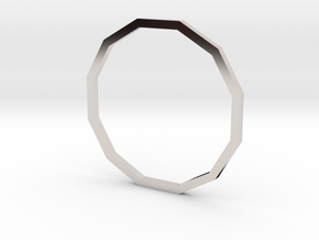 Dodecagon 18.53mm in Rhodium Plated Brass