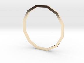 Dodecagon 18.53mm in 14K Yellow Gold