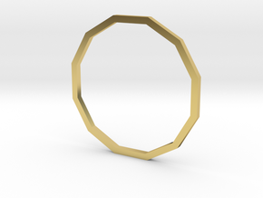 Dodecagon 19.41mm in Polished Brass