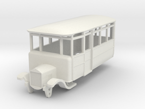 o-76-derwent-railway-ford-railcar in White Natural Versatile Plastic
