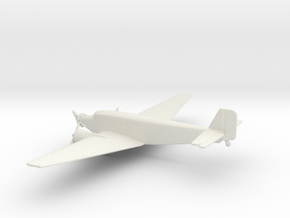 Junkers Ju 52 Iron Annie in White Natural Versatile Plastic: 1:220 - Z