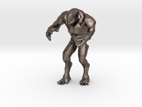 Hell knight - Doom  3 inch in Polished Bronzed-Silver Steel