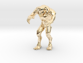 Hell knight - Doom  3 inch in 14k Gold Plated Brass