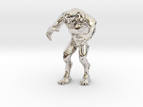 Hell knight - Doom  3 inch in Rhodium Plated Brass