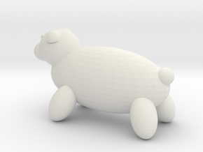 Polar bear in White Natural Versatile Plastic