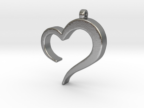 Heart_pendant in Natural Silver