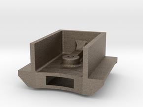 Mogul - Tender Drawbar Anchor .625 plus 1% in Matte Bronzed-Silver Steel