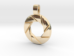 Portal - Aperture Science Pendant in 14K Yellow Gold