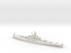 US South Dakota-Class Battleship in White Natural Versatile Plastic