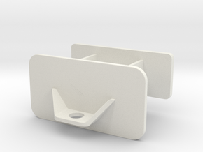 Front Weight Bracket  in White Natural Versatile Plastic