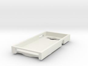 Snowman phone case in White Natural Versatile Plastic