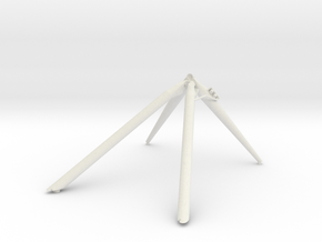 J mission +Y landing gear outrigger in White Natural Versatile Plastic