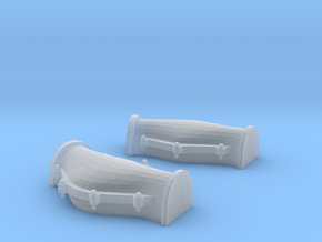 1/48 USN Cable Locker Covers Foredeck  in Smooth Fine Detail Plastic