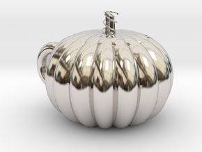 Pumpkin cup in Rhodium Plated Brass