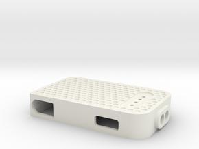 PowerPuck Case front in White Natural Versatile Plastic