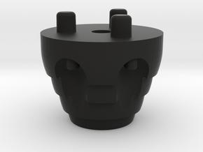 Emek/Etha 2 Bolt Cap - DRAGON in Black Natural Versatile Plastic