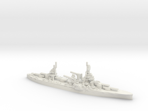 US New York-Class Battleship in White Natural Versatile Plastic
