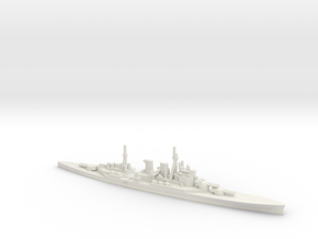 British Renown-Class Battlecruiser in White Natural Versatile Plastic
