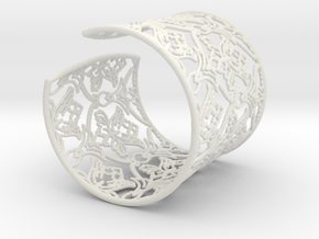 Sherlock Cuff in White Natural Versatile Plastic: Small