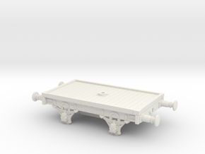 Lbscr 16' Bolster Wagon (S.R. Dia. 1617) in White Natural Versatile Plastic: 1:76 - OO