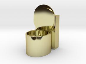 TOILET ASHTRAY in 18K Yellow Gold