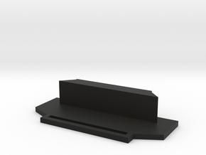 TeleScopix Mount End Cover in Black Natural Versatile Plastic