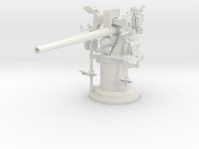 1/18 USN 3 inch 50 [7.62 Cm] Deck Gun in White Natural Versatile Plastic