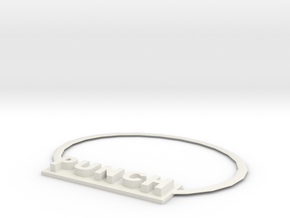 Fist necklace in White Natural Versatile Plastic: Small