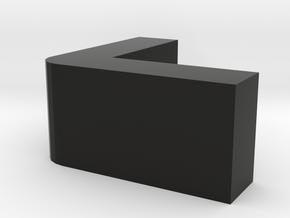 Table Corner Protective Cover in Black Natural Versatile Plastic: Small