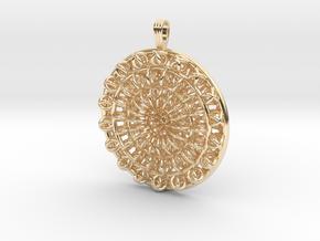 Circular Flower in 14K Yellow Gold