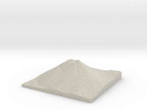 Model of Black Butte in Natural Sandstone
