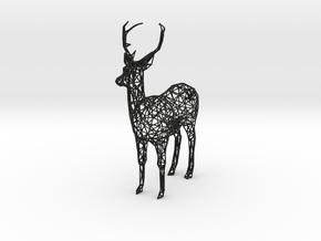 Wireframe DEER XXL in Black Natural Versatile Plastic