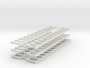 1/50th Set of six conveyor racks in White Natural Versatile Plastic