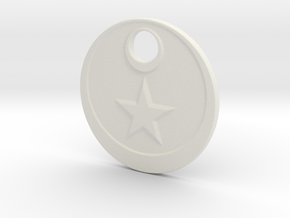 The Star in White Premium Versatile Plastic