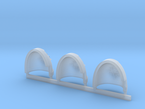 Nova Skulls Gravus Shoulder Pads x3 L #2 in Smooth Fine Detail Plastic
