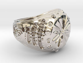 Star-Signet Ring size 9.25 US in Platinum