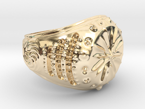 Star-Signet Ring size 9.25 US in 14K Yellow Gold