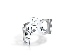 Ring Poem rjt in White Strong & Flexible