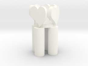 Love candlestick in White Processed Versatile Plastic