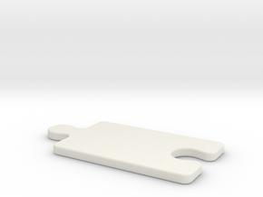 jigsaw plate in White Natural Versatile Plastic