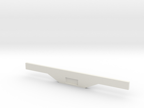 Light Bar and Plate Holder in White Natural Versatile Plastic