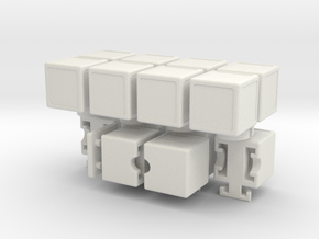 H-Cube in White Natural Versatile Plastic