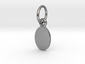 Pendant Base Oval 10 mm X 7 mm in Natural Silver (Interlocking Parts)