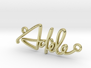 Adèle Script First Name Pendant in 18k Gold Plated Brass