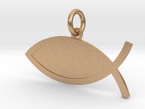 The Fish Customizable in Natural Bronze (Interlocking Parts)