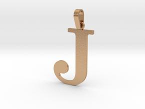 J Letter Pendant in Natural Bronze (Interlocking Parts)