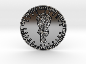 Coin of 9 Virtues Lord Vishnu in Antique Silver